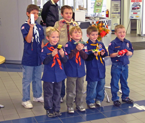 Boy Scout Derby Winners