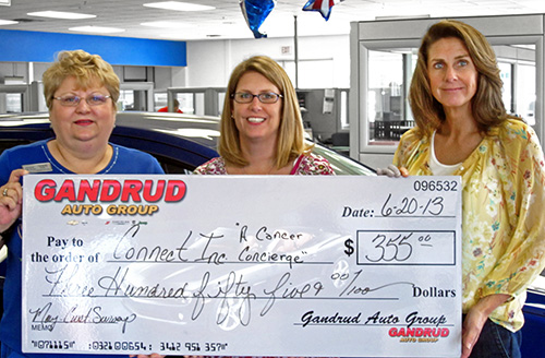 Gandrud Auto Group Donation to Connect, Inc in Green Bay, WI