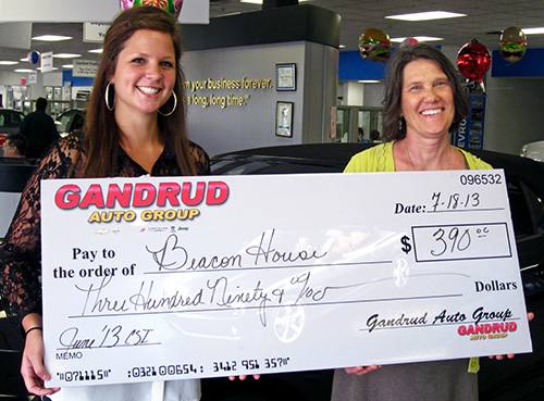 Gandrud Auto Group Donation to Beacon House in Green Bay, WI