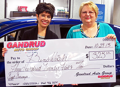 Gandrud Auto Group Donation to Ben's Wish in Green Bay, WI